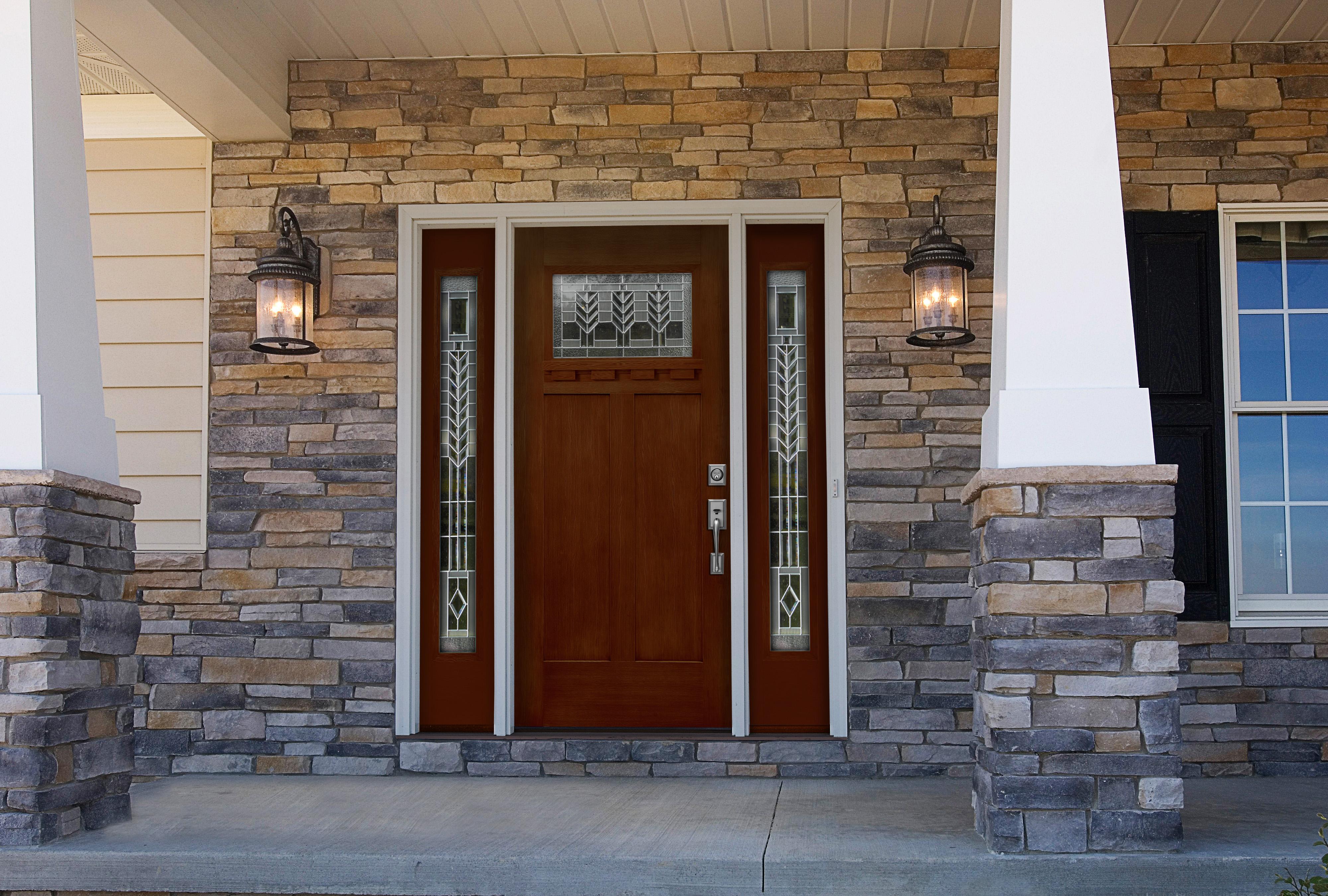 2698 #654C34 Signet 2P DS Fiberglass Door By ProVia wallpaper Aluminum Entry Doors 39554000