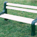 5' Long Vinyl Park Bench